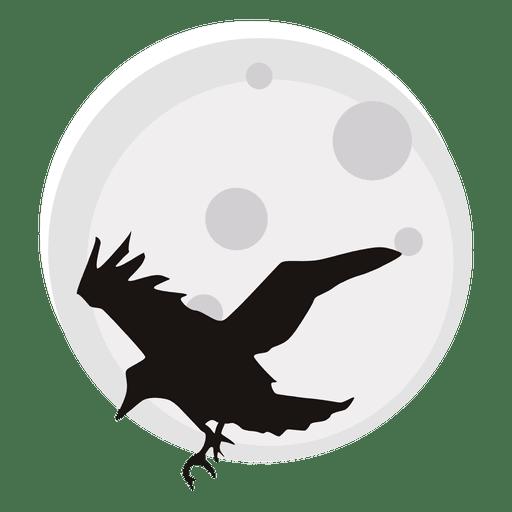 Corvo E Lua Dos Desenhos Animados Baixar Png Svg Transparente