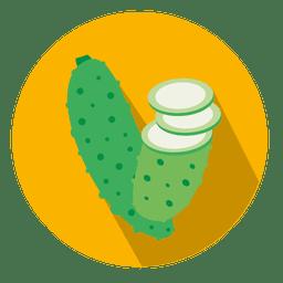 Cucumber circle icon