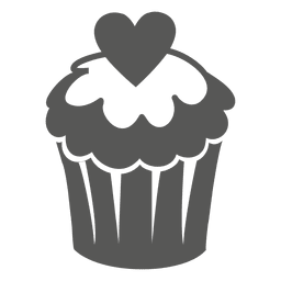 Cup cake with heart