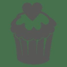 Pastel de taza con corazón