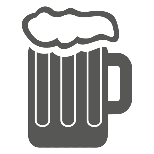 Copa de icono de bebida de cerveza