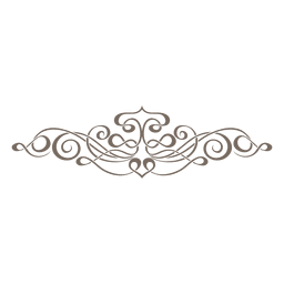 ornamento decorativo divisor de Curly