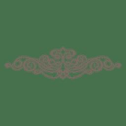 Ornamento divisor decorativo encaracolado