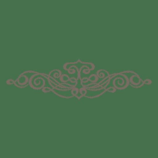 Adorno divisor decorativo rizado Transparent PNG