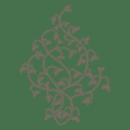 floral Curly redemoinhos decoração