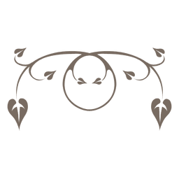 Ornamento de remolinos florales rizados