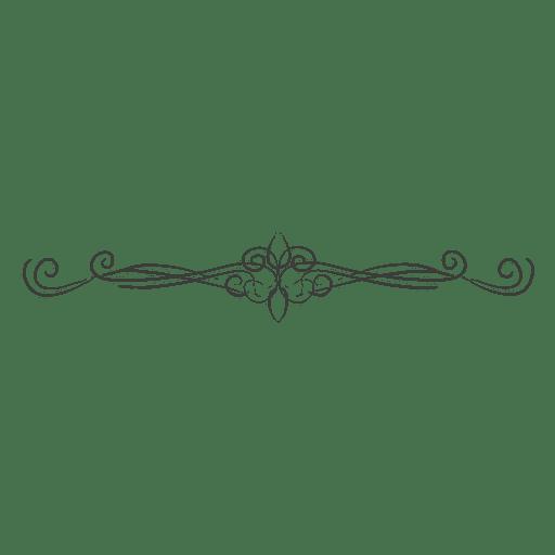 curly hand drawn floral divider transparent png svg vector