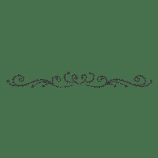 Divisor de remolinos dibujados a mano rizado