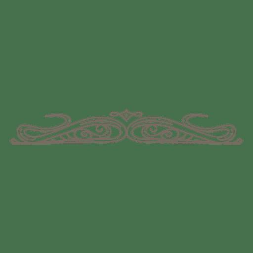 Curly lines divider decoration Transparent PNG