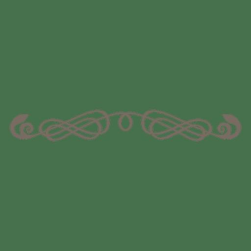 Curly lines ornate divider Transparent PNG