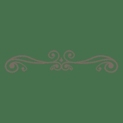 Adorno rizado línea decoración Transparent PNG