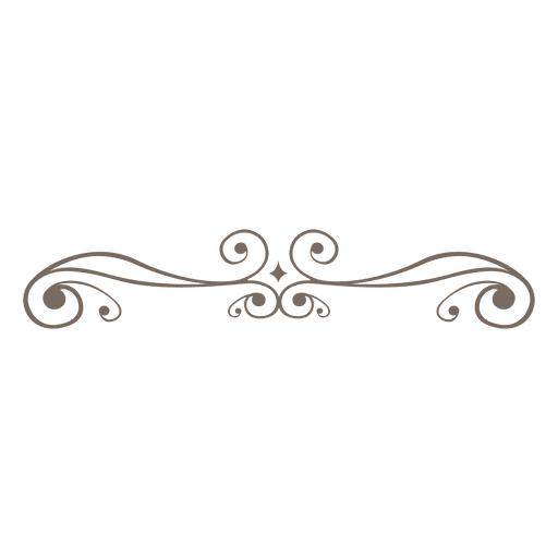 Line Design Png : Linha de decoração do curly baixar png svg transparente
