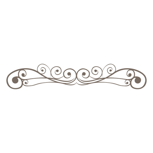 Curly ornate lines decoration