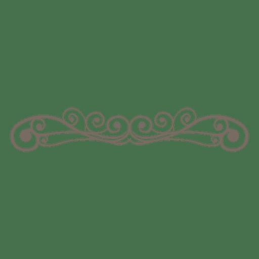 Decoração de linhas ornamentado encaracolado Transparent PNG