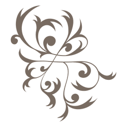 Curly swirls decoration
