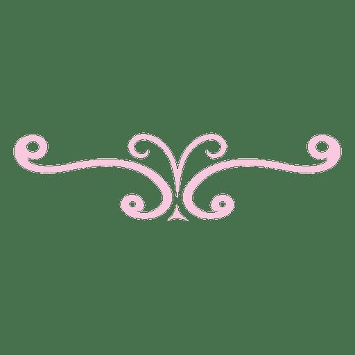 Decoración rizada rosa de remolinos. Transparent PNG