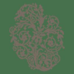 Curly swirls floral decoration