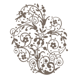 Redemoinhos encaracolados decoração floral