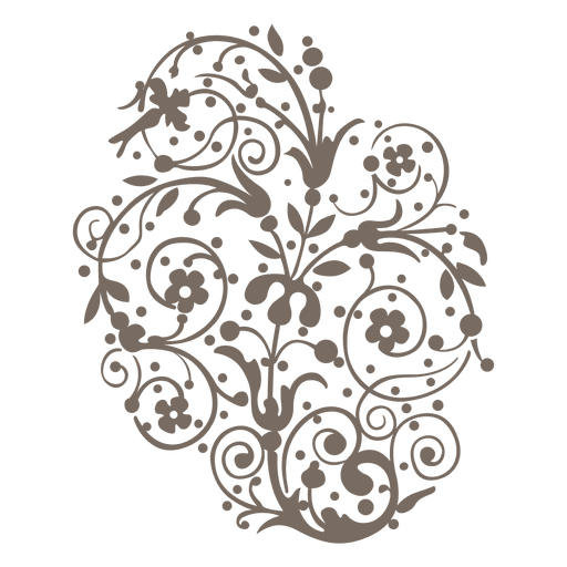 Curly swirls floral decoration Transparent PNG