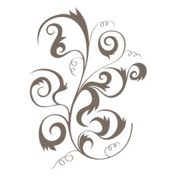 Curly swirls floral decoration ornament