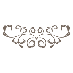 Curly redemoinhos floral ornamentado
