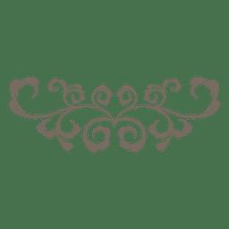 Rizado remolinos floral adornado