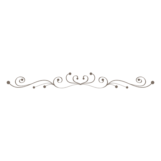 Curly swrils decorative divider - Transparent PNG & SVG vector