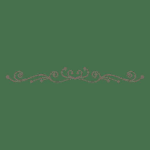 Divisor decorativo rizado swrils Transparent PNG