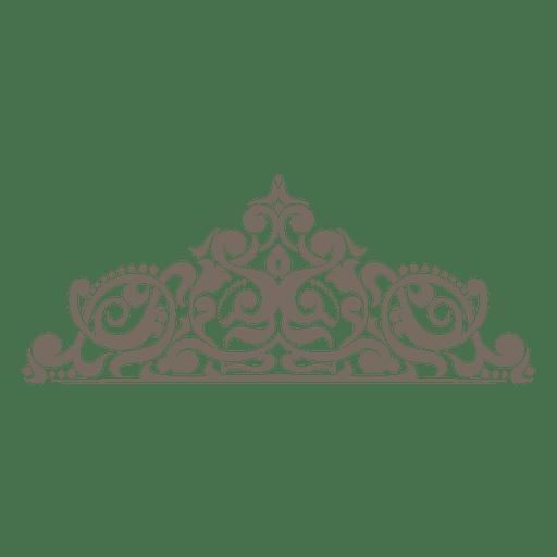 Canto ornamentado floral curvilíneo Transparent PNG