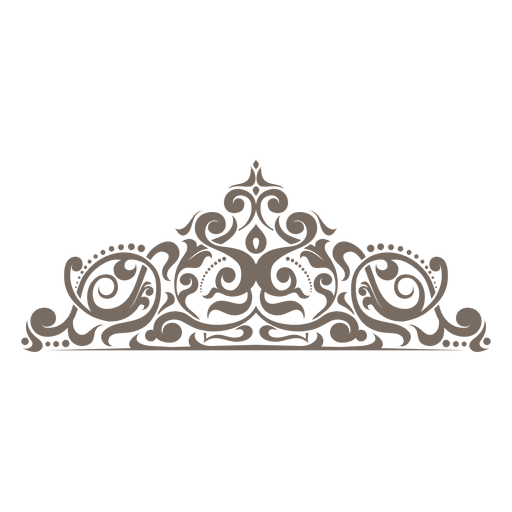 Curvy floral ornamented corner png