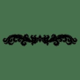 floral con curvas remolinos divisor 2