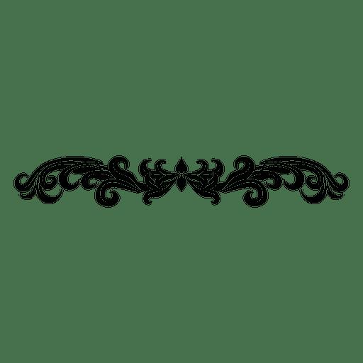Divisor de remolinos florales con curvas 2 Transparent PNG