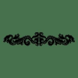 floral con curvas remolinos divisor 3