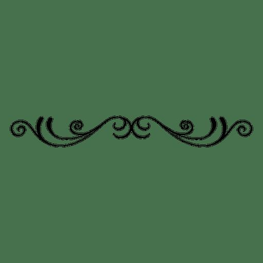 Ornamento de remolinos florales con curvas 5