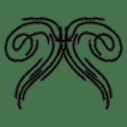 Riscas lineares curvilíneas