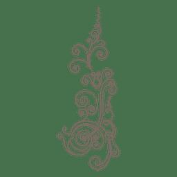 líneas curvas ornamento floral