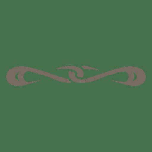 Curvy lines ornate divider Transparent PNG
