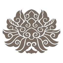 Ornamento floral de roda Curvy