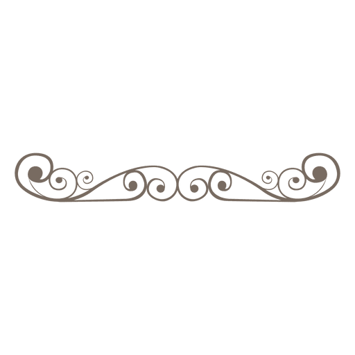divider decoration curly swirls Transparent PNG