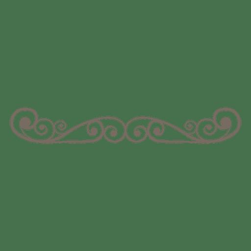 divisor de decoración de remolinos rizados Transparent PNG