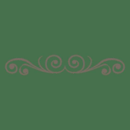 Curvados remolinos de decoración divisoria. Transparent PNG