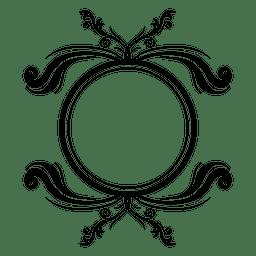 Remolinos con curvas marco redondo 3