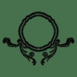 Remolinos curvilíneos con marco redondo 4