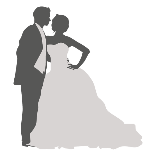 Dancing wedding couple Transparent PNG