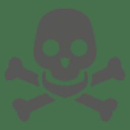 Perigo ícone do crânio silhueta