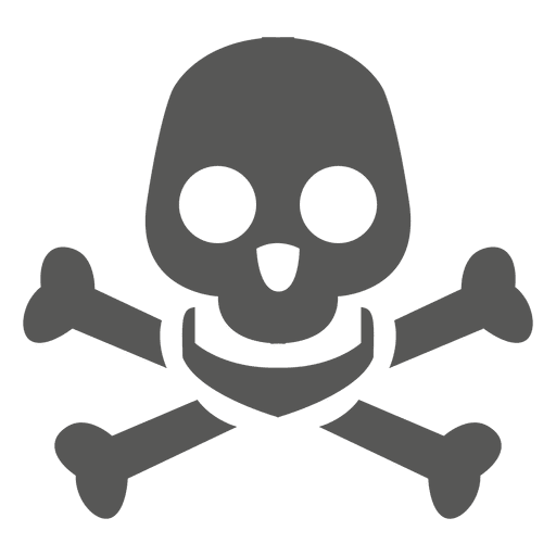 Danger skull icon silhouette Transparent PNG