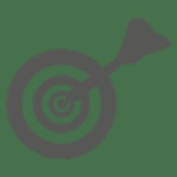 Icono de objetivo de tablero de dardos