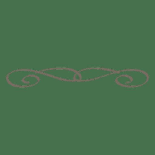 Ornamento linear de caligrafia decorativa Transparent PNG