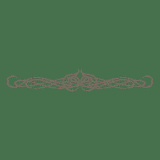 Decorative curls ornament divider Transparent PNG