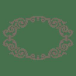 Curvas decorativas de marco redondeado.
